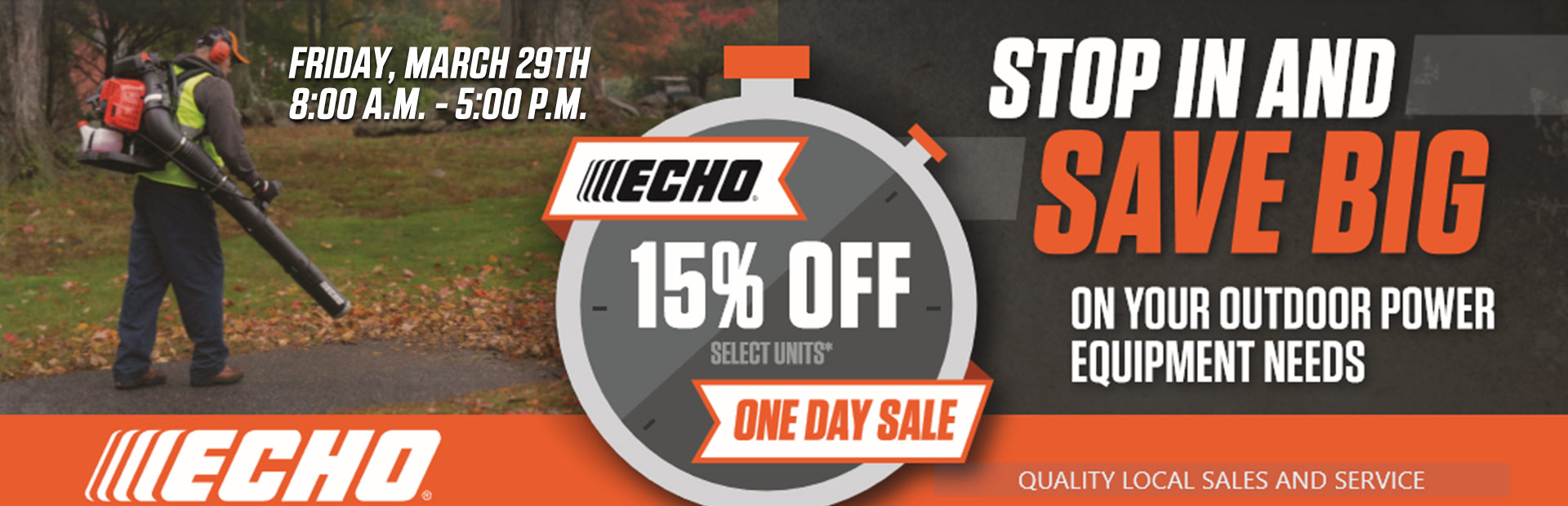 ECHO One Day Sale