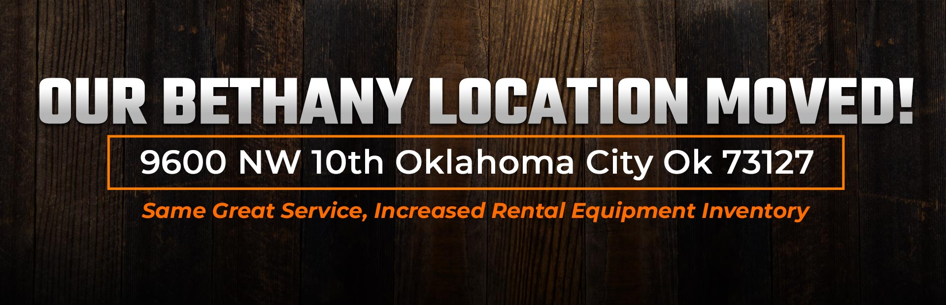 Our Bethany location moved! Click here to learn more!