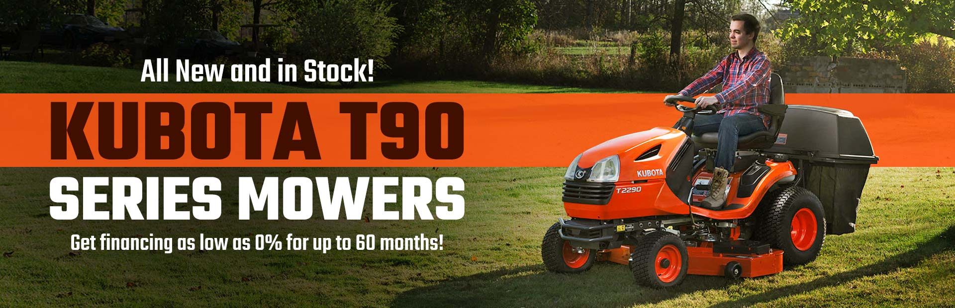 Kubota T90 Series Mowers: Click here to view the lineup.