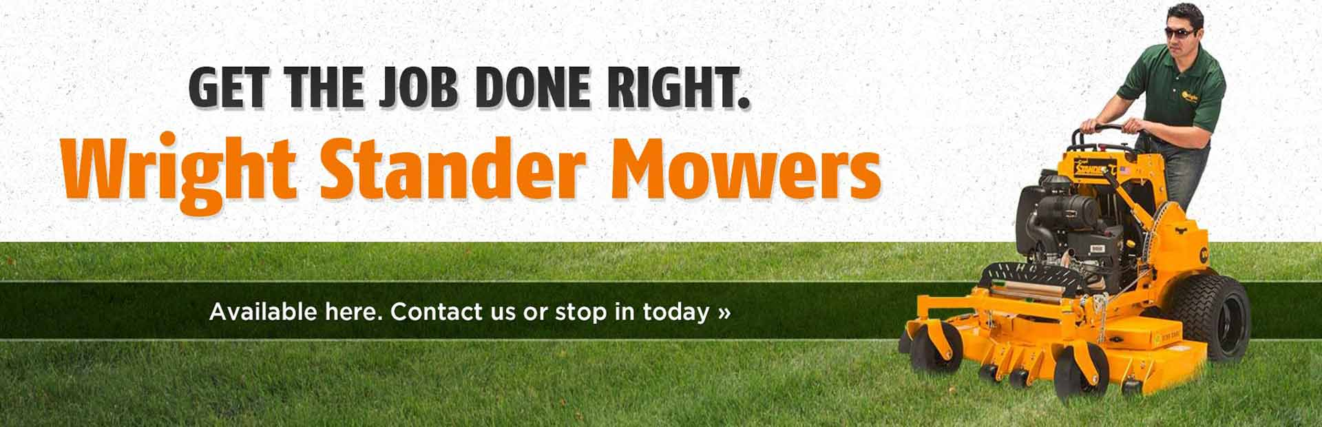 Wright Stander Mowers: Get the job done right.
