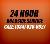24 Hour Roadside Service. Call (334) 826-6627