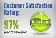 Customer satisfaction rating: 97%. Click here to read the reviews.
