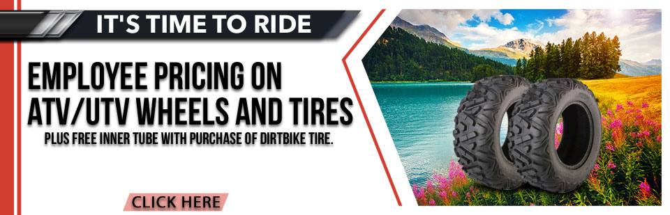 Employee Pricing on ATV/ UTV Wheels and Tires