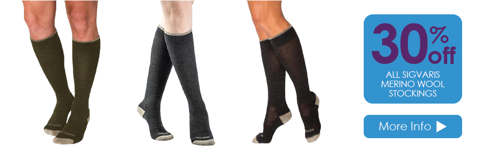 30% Off ALL Sigvaris Merino Wool Socks
