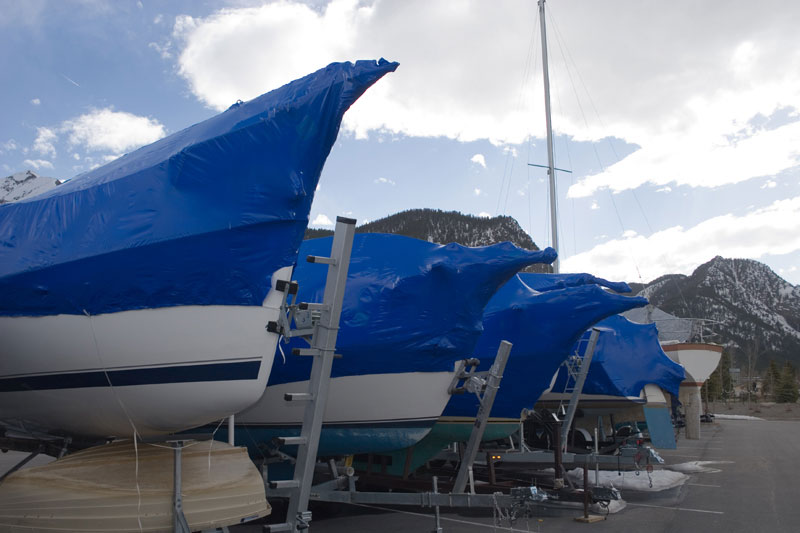 Boats Covered for Winter