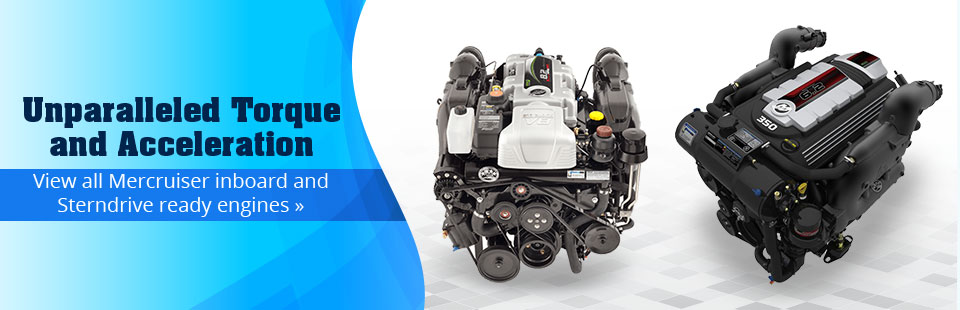 Mercruiser Inboard and Sterndrive Ready Engines: Click here to browse our selection!