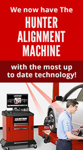 We now have The Hunter Alignment Machine with the most up to date technology!