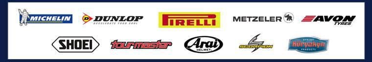 We proudly carry products from Arai, Scorpion, Kuryakyn, Dunlop, Michelin®, Pirelli, Metzeler, Avon, Shoei, and Tour Master.