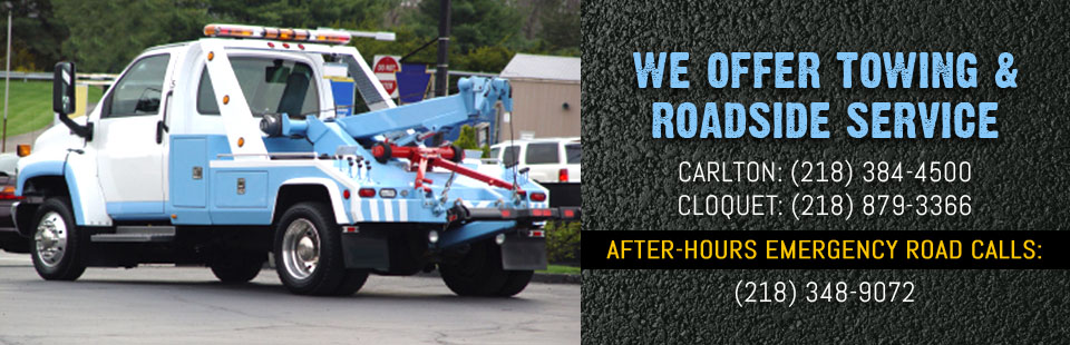 We Offer Towing & Roadside Service: Contact us for details.