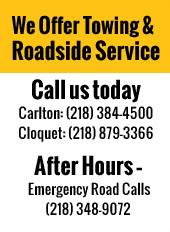 We Offer Towing! Call us today!