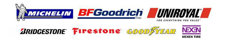 We carry products from Michelin®, BFGoodrich®, Uniroyal®, Bridgestone, Firestone, Nexen and Goodyear.