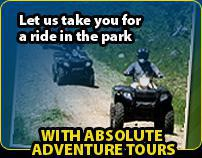 Let us take you for a ride in the park with Absolute Adventure Tours.