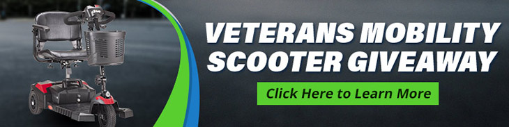 Veterans Mobility Scooter Giveaway. Click Here to Learn More.