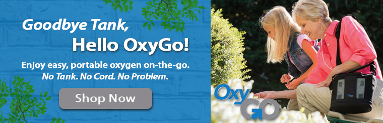 Shop Now For Your OxyGo Portable Oxygen Concentrator!