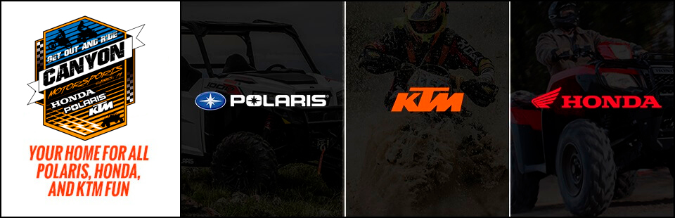Your home for all Polaris, Honda, and KTM fun! Click here to view our showcase.