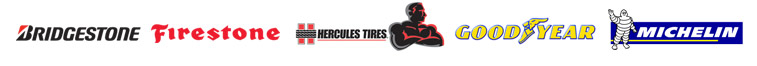 We proudly offer products from Bridgestone, Firestone, Hurcules, Goodyear, and Michelin.
