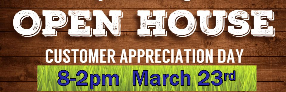 Open House (Customer Appreciation Day)