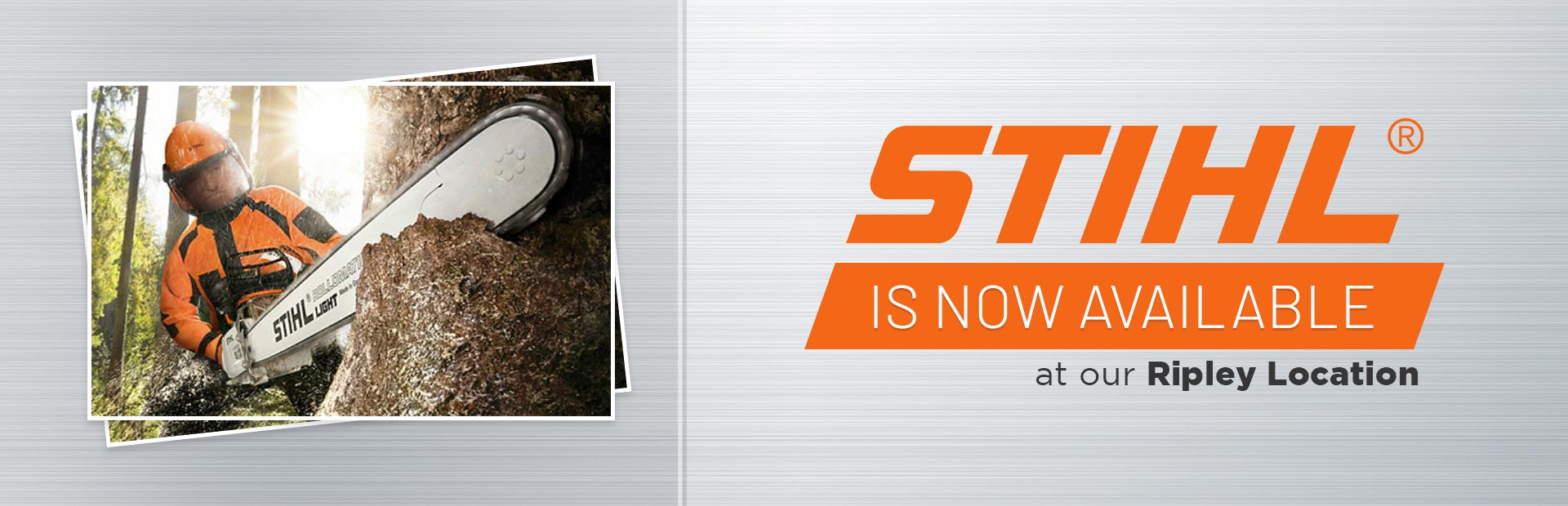 We now carry STIHL products at our Ripley location! Click here to see the models.