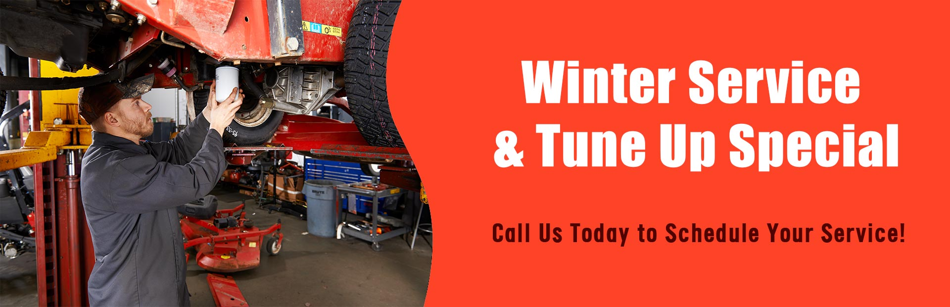 Winter service & tune up special: Call us today to schedule your service!