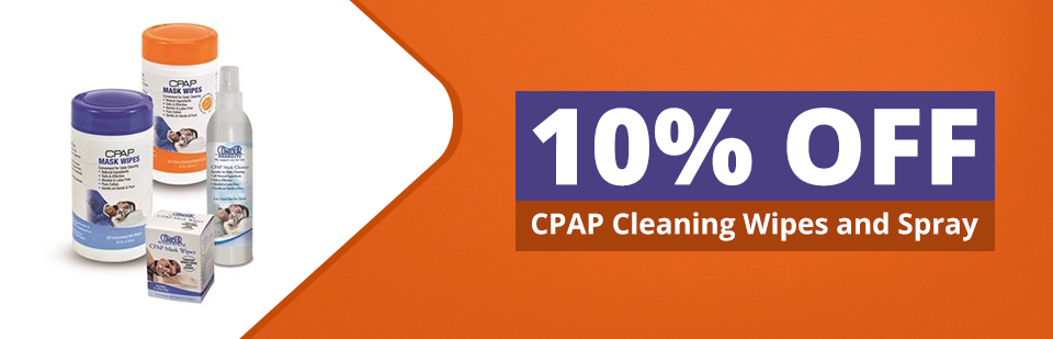 Get 10% off CPAP cleaning wipes and spray!