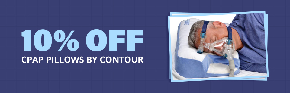 Get 10% off CPAP pillows by Contour!