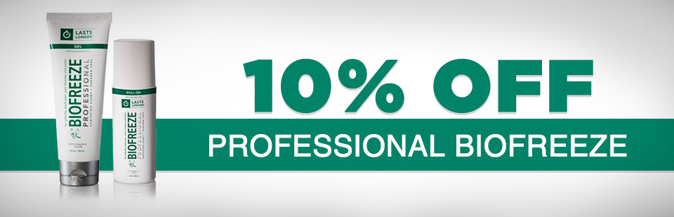 10% Off Professional Biofreeze: Click here to print the coupon.