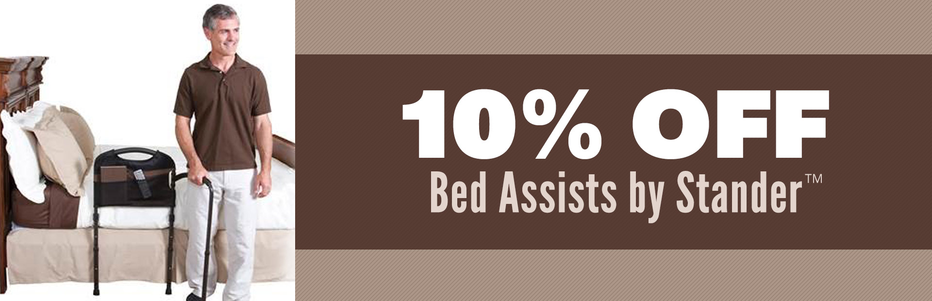Get 10% off bed assists by Stander™!