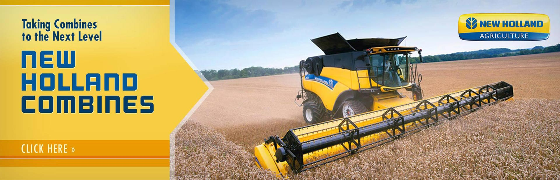 New Holland takes combines to the next level! Click here to view our selection.