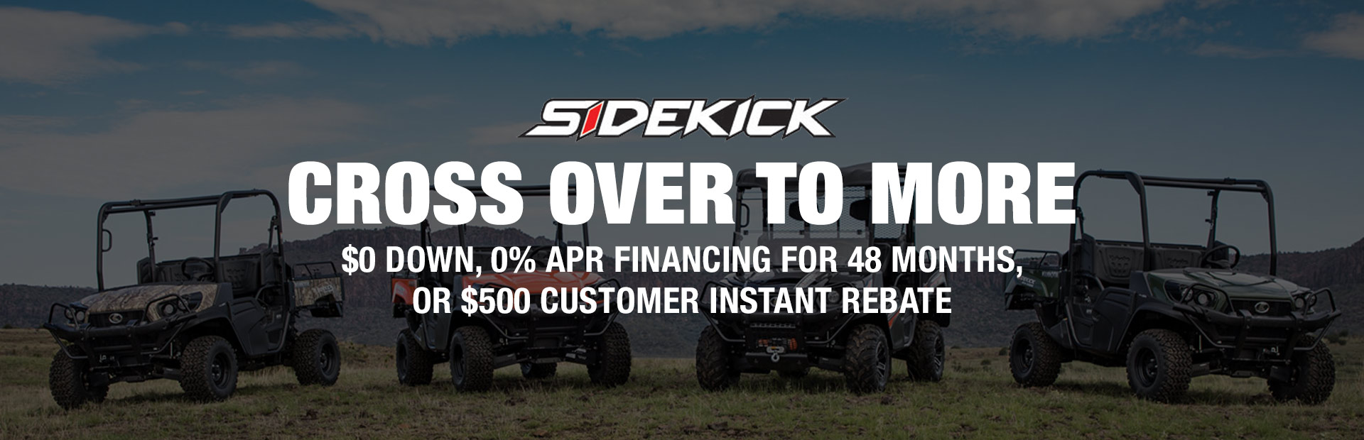 Kubota Sidekick: Cross over to more.