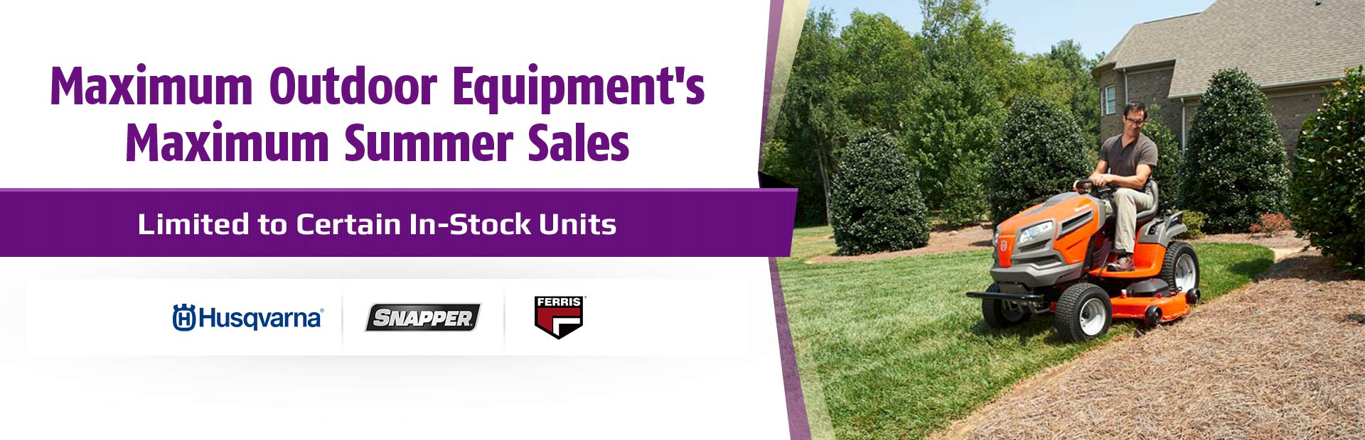 Join us for Maximum Outdoor Equipment's Maximum Spring Sales!