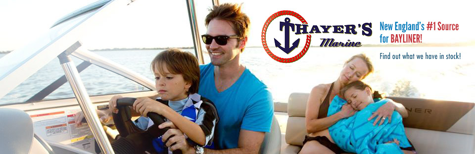 Thayer's Marine is New England's #1 source for Bayliner! Find out what we have in stock!