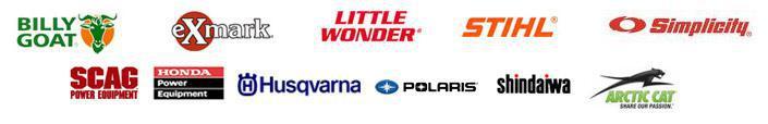 We carry products from Billy Goat, eXmark, Little Wonder, Stihl, Simplicity, SCAG, Honda Power Equipment, Husqvarna, Shindaiwa, Polaris, and Arctic Cat.