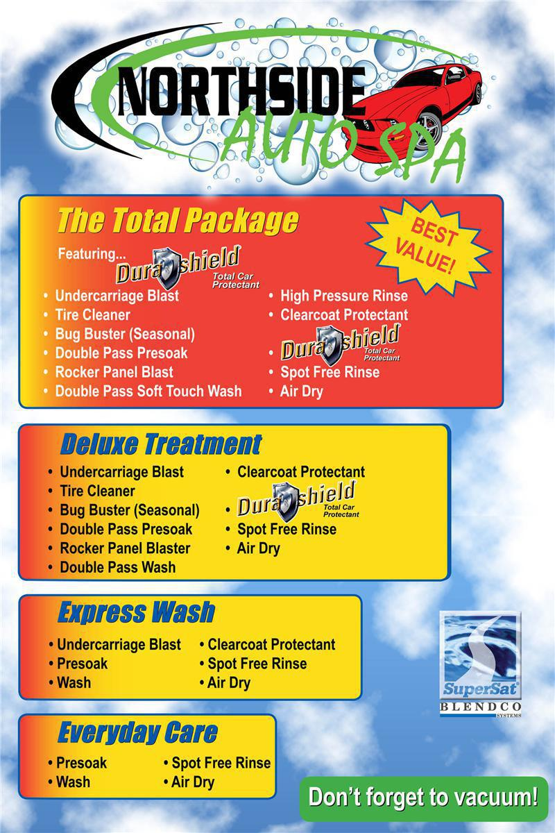 Northside Auto Spa Car wash Packages in David City, NE