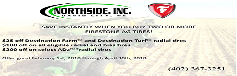 Save instantly when you buy 2 or more Firestone AG Tires!
