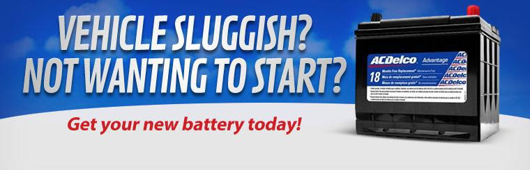 Is your vehicle feeling sluggish or not wanting to start? Get a new battery today! Click here to learn more.