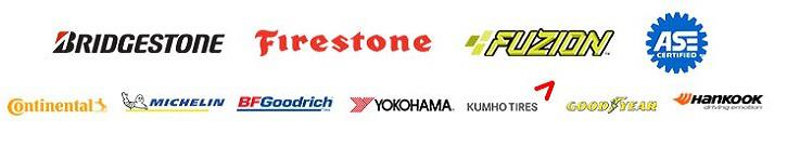 We carry products from Bridgestone, Firestone, Fuzion, ASE, Continetnal, Michelin, BFGoodrich, Yokohama, Kumho, Goodyear and Hankook