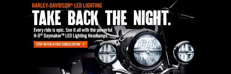 We offer Harley-Davidson® LED lighting. Contact us for details.