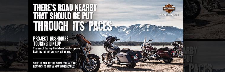 Harley-Davidson® Project Rushmore Touring Lineup: Click here to view the models.