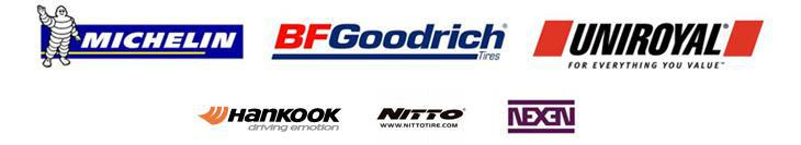We carry products from Michelin®, BFGoodrich®, Uniroyal®, Hankook, Nitto, and Nexen.