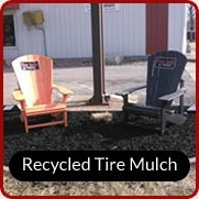Recycled tire mulch