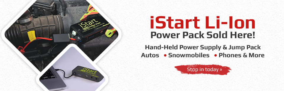 iStart Li-Ion Power Pack Sold Here: Stop in today.