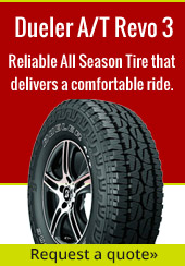 Dueler A/T Revo 3. Reliable All Season Tire that delivers a comfortable ride. Request a quote.