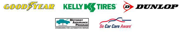 We proudly carry Goodyear, Dunlop, Kelly, MAP, and Car Care Aware.