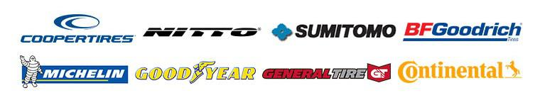 We carry products from Cooper, Nitto, Sumitomo, BFGoodrich, Michelin, Goodyear, General and Continental