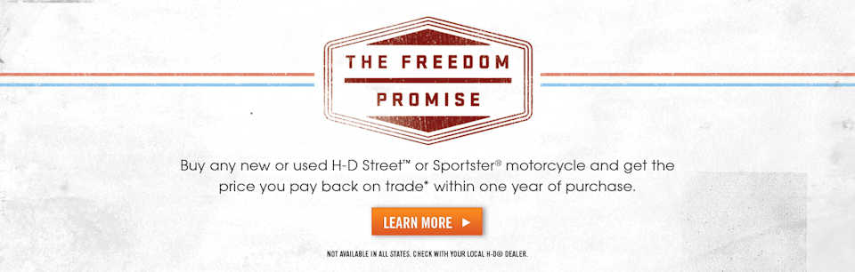 HD Sportster Freedom Promise