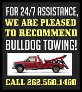 For 24/7 assistance, we are pleased to recommend Bulldog Towing!