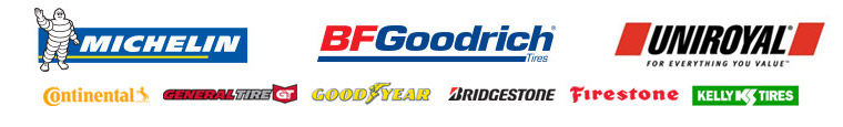 We proudly carry products from Michelin®, BFGoodrich® Uniroyal®, Continental, General, Goodyear, Bridgestone, Firestone, and Kelly.