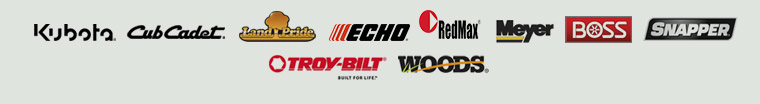We carry products from Kubota, Cub Cadet, Land Pride, ECHO, RedMax, Meyer Products, BOSS, Snapper, Troy-Bilt, and Woods Equipment Company.