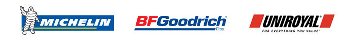 Michelin®, BFGoodrich®, and Uniroyal®