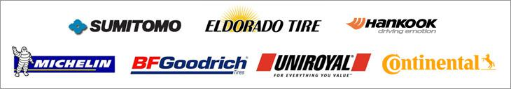 We carry products from Sumitomo, Eldorado, Hankook,Michelin®, BFGoodrich®, Uniroyal®, and Continental.